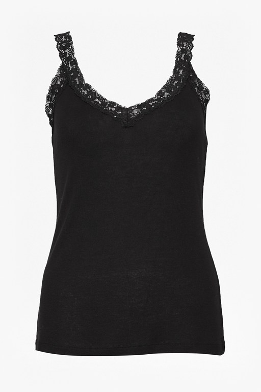 Complete the Look Rib It Detail Lace Cami Top