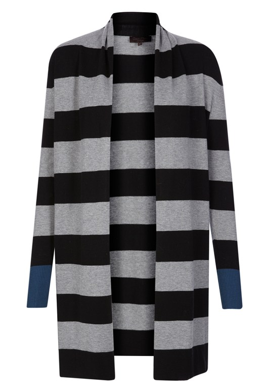 Lyon Striped Open Front Cardigan