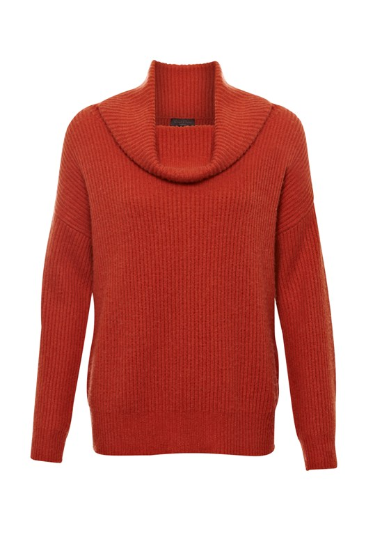 Cocoon Chunky Knit Roll Neck Jumper