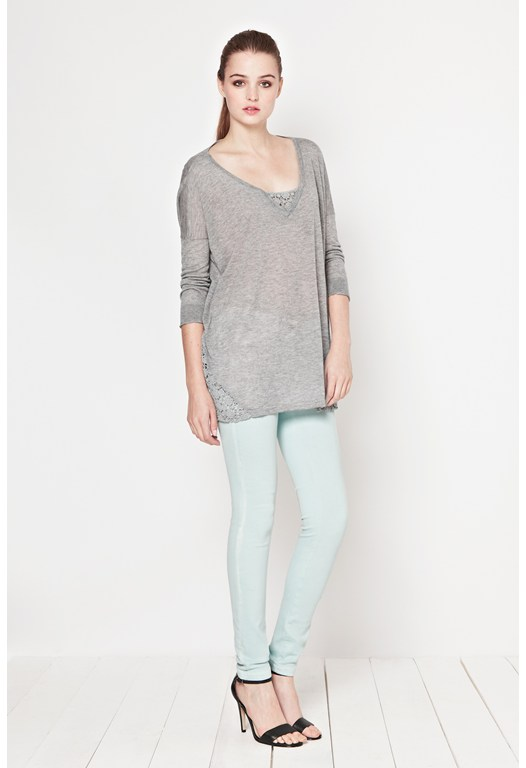 Marella Lace V-Neck Jumper