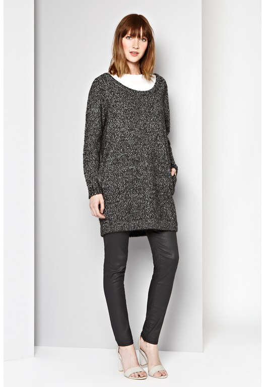 Katzarb Knitted Tunic Jumper