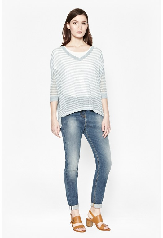Summer Stripes V-Neck Jumper