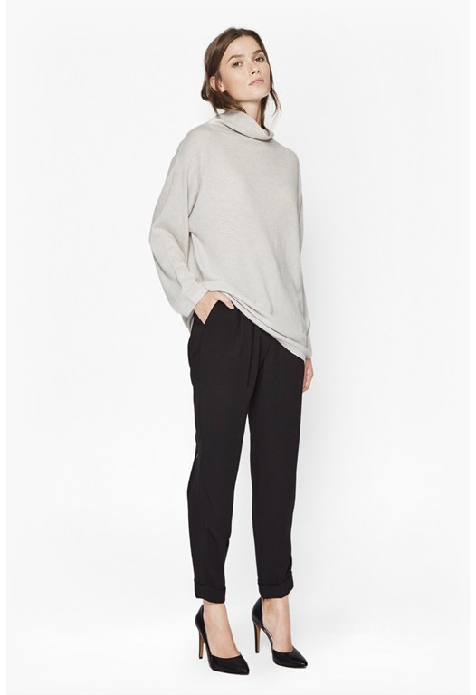 Naomi Cashmere Funnel Neck Knit
