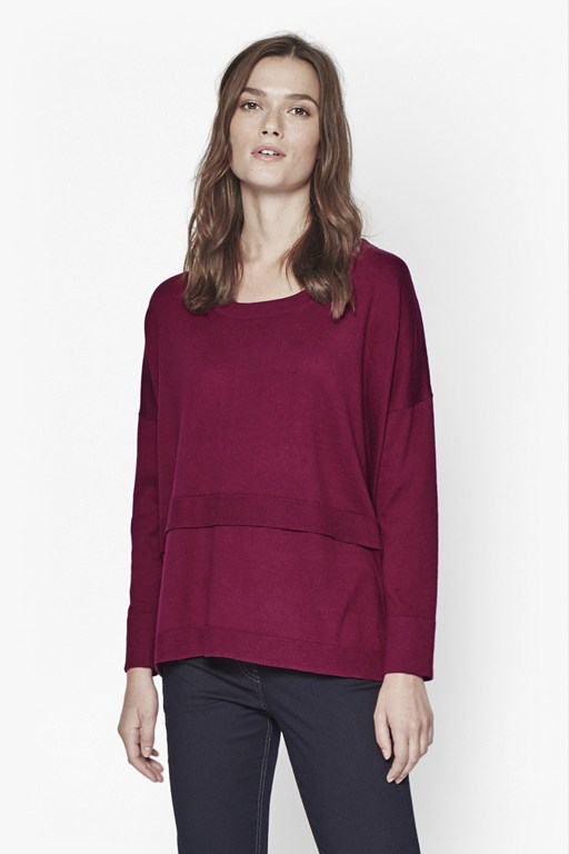 Complete the Look Rocking Layered Knitted Top