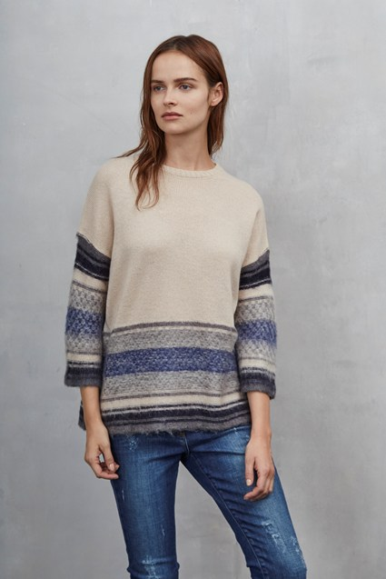 Nordic Fair Isle Cropped Jumper