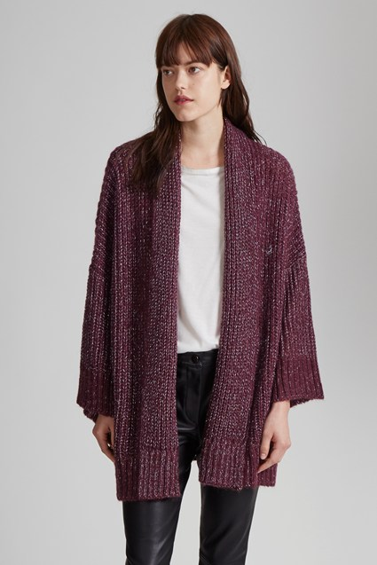 Silent Sparkle Knit Oversized Cardigan