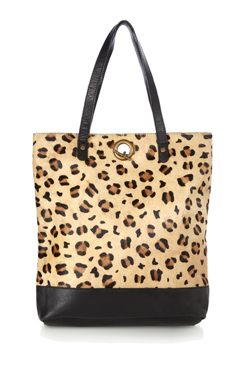 Wild Winter Chain Fastened Tote