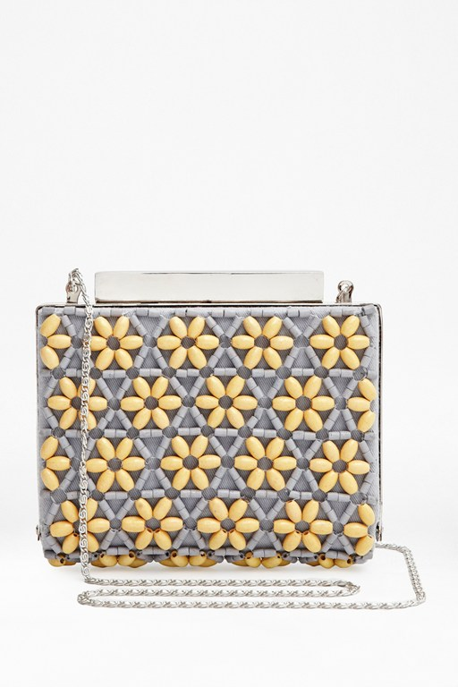 Complete the Look Star Anise Beaded Clutch Bag