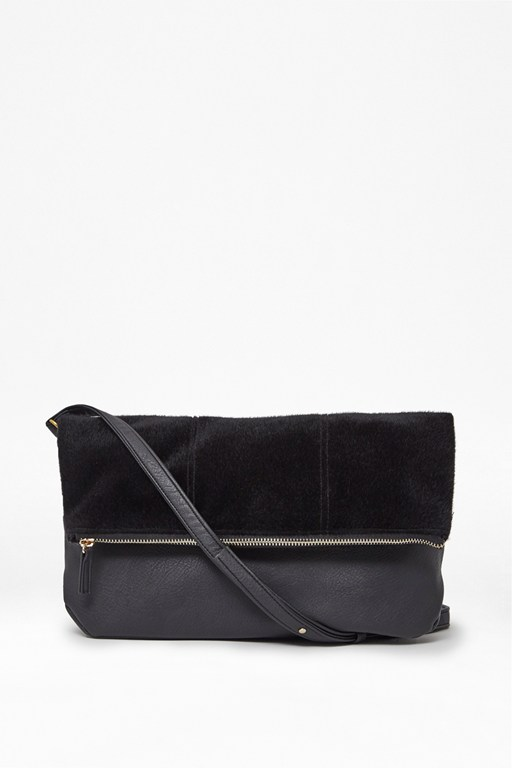 Complete the Look Black Beauty Clutch Bag