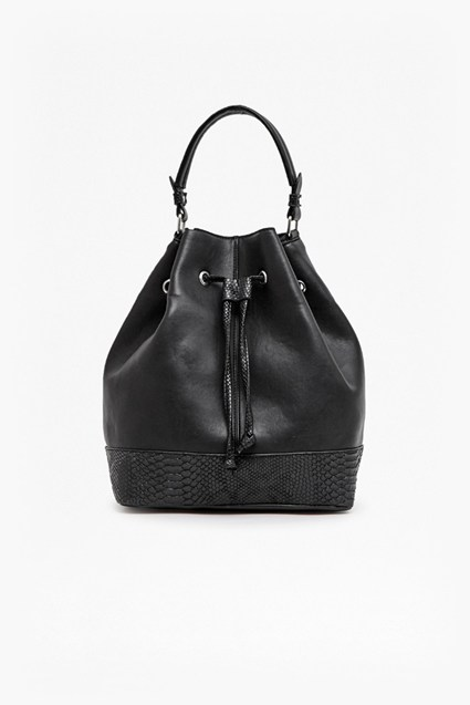 Viper Faux Leather Bucket Bag