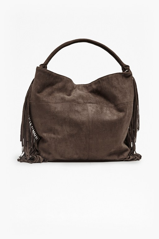 Complete the Look Tamara Tasselled Faux Suede Bag