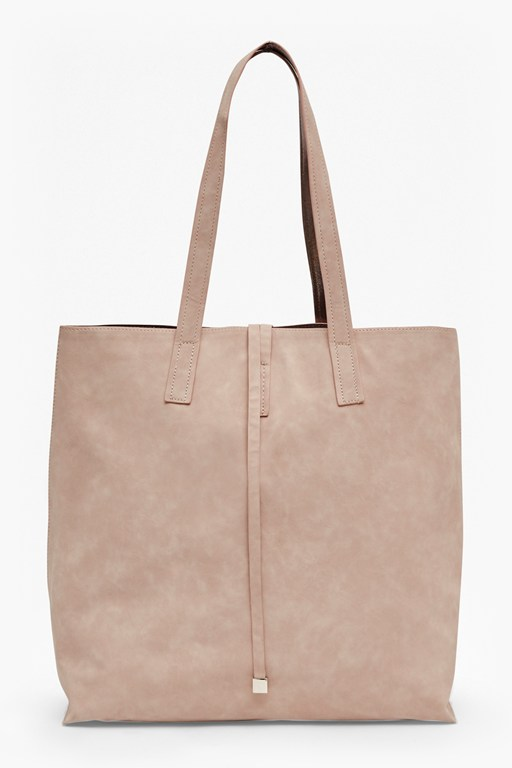 Complete the Look Reversible Faux Leather Shopper