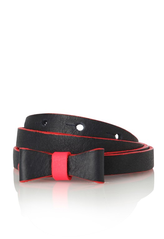 Bow Tie Leather Belt