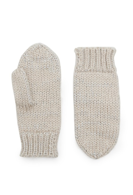 Glitzy Knitted Mittens