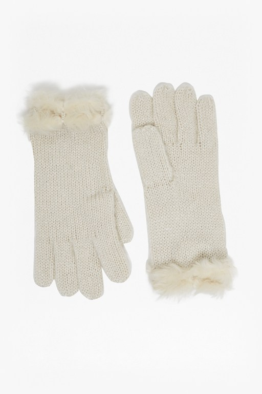 Carmela Knitted Faux Fur Gloves