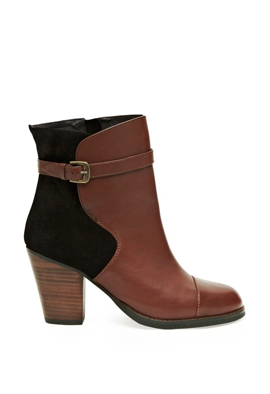 Palermo Contrast Ankle Boots