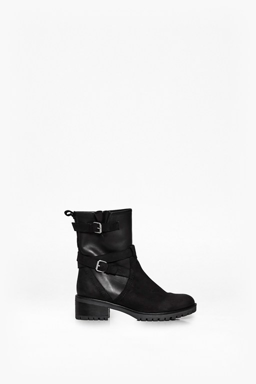 Complete the Look Biker Leather Boots