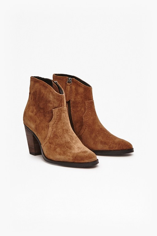 Howdy Cowboy Leather Ankle Boots