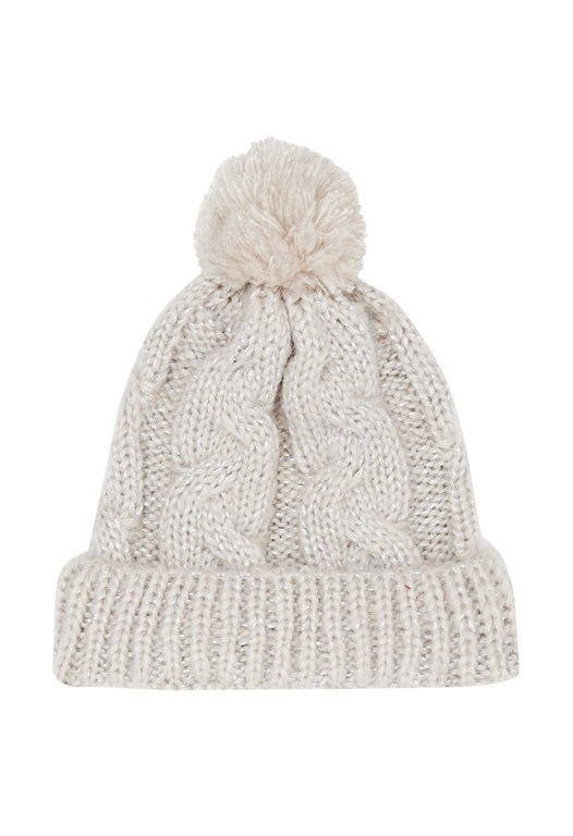 Glitzy Knitted Bobble Hat