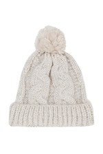 Looks Great With Glitzy Knitted Bobble Hat