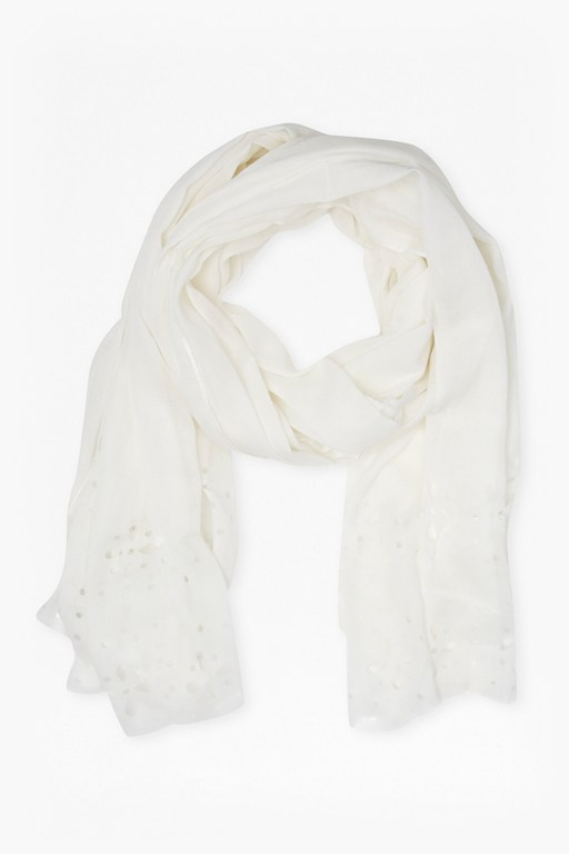 Complete the Look Amelia Laser Cut Flower Scarf