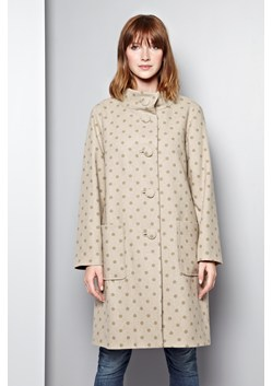 Polka Funnel Neck Coat