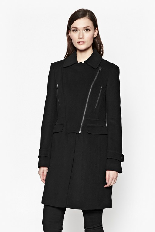 carla zip detail coat