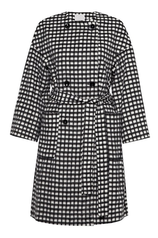 Complete the Look Chequers Belted Coat