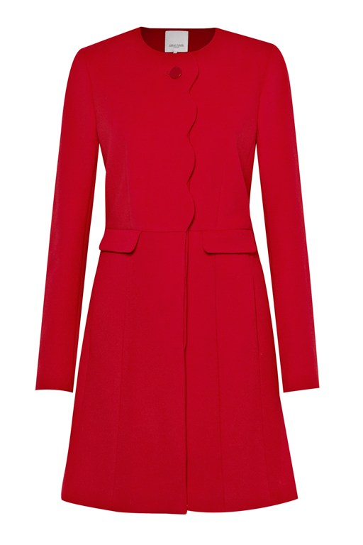 Complete the Look Princess Scallop Trim Coat
