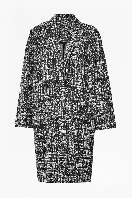 City Scribble Oversized Cocoon Coat