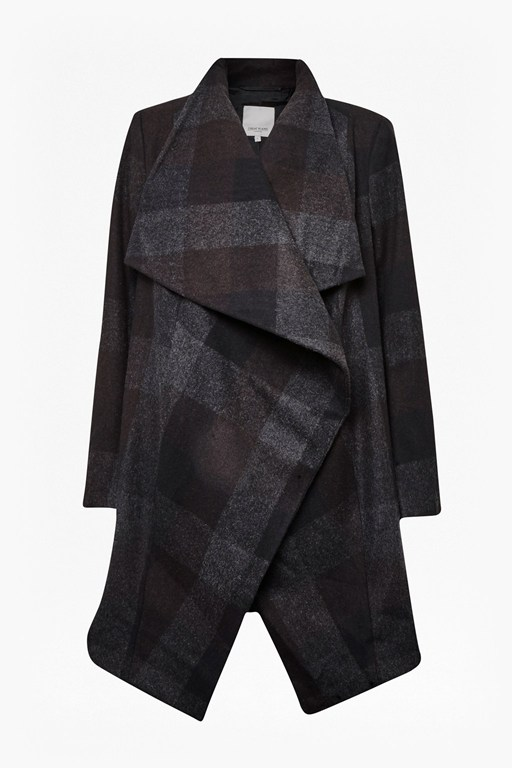 celtic waterfall check coat