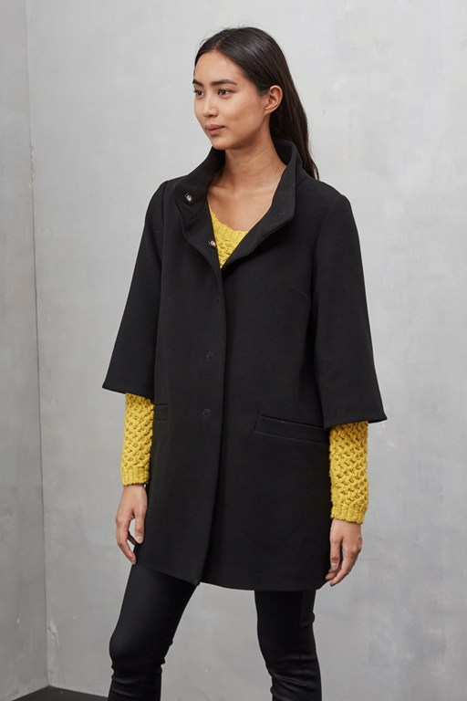 chester bell sleeves swing coat