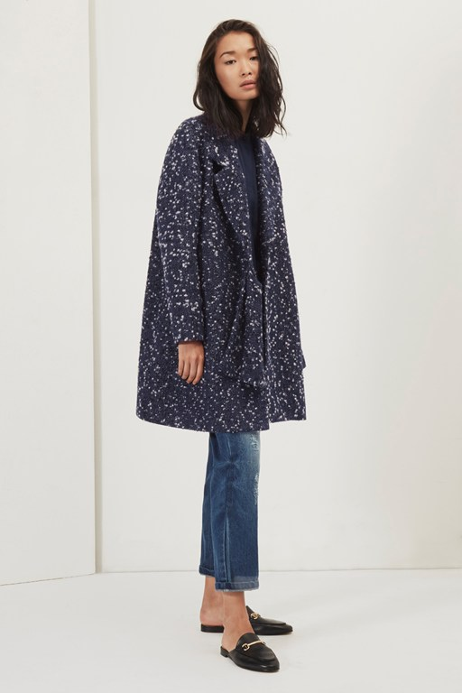 connie side tie coat