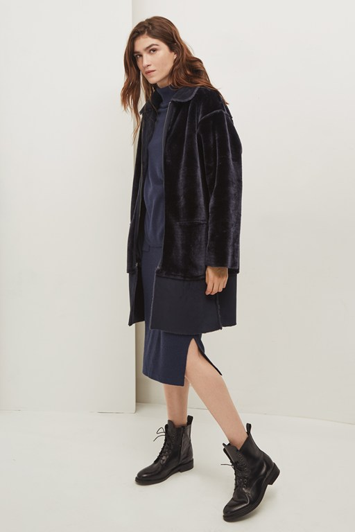 aspen reversible faux shearling coat
