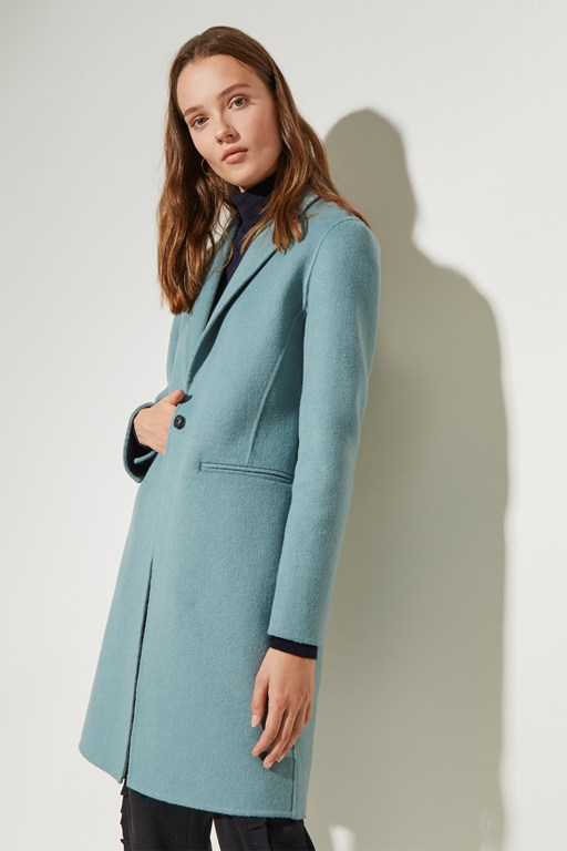 double face collared coat
