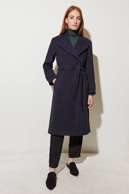 Long Belted Mac Coat