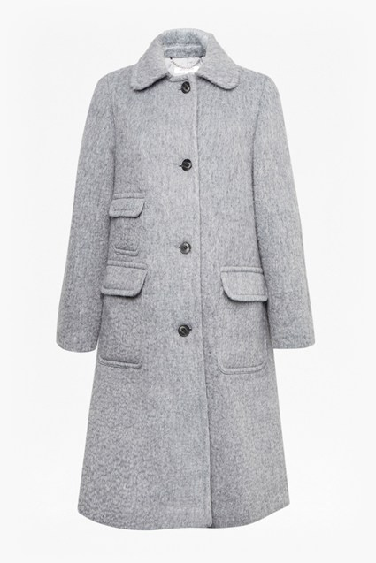 Textured Weave Pocket Coat
