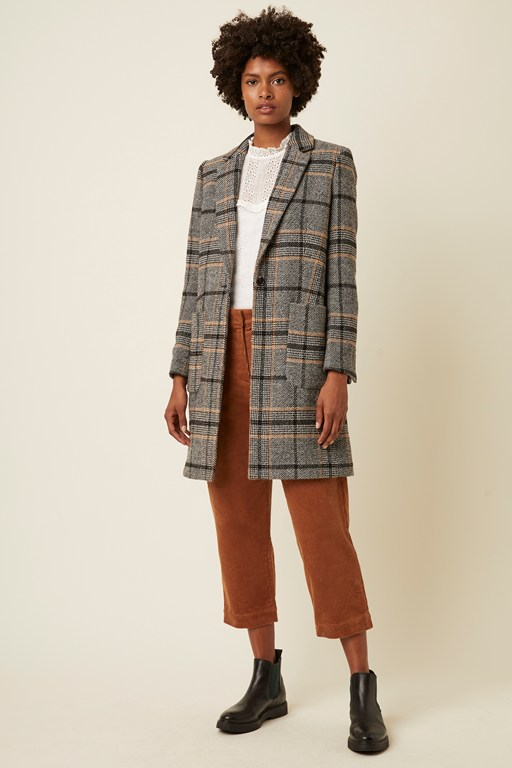charlize check coat
