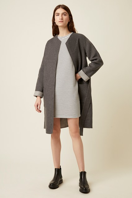 Doublefaced Wool Blend Coat