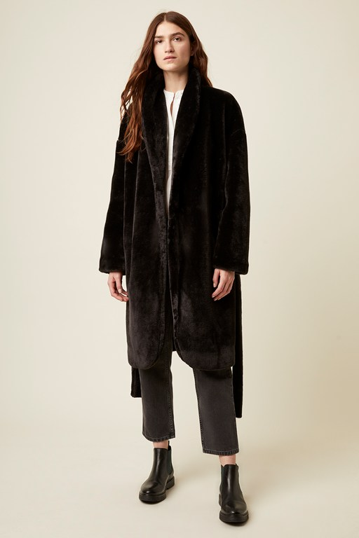 audley faux fur coat