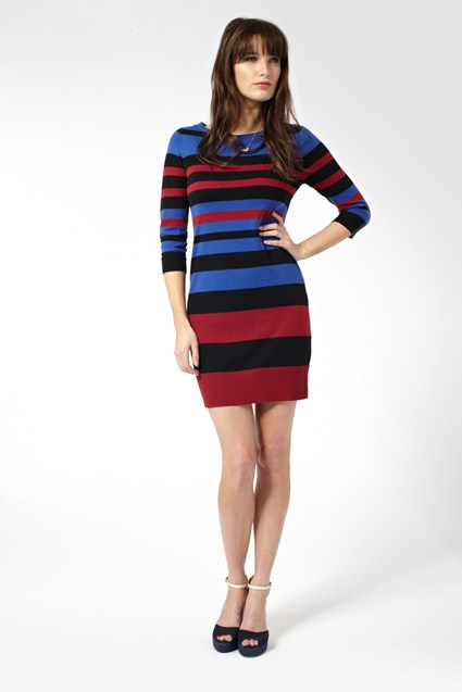 Sunny Stripe Jumper Dress