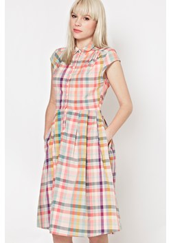 Jenna Checked Shirt Dress