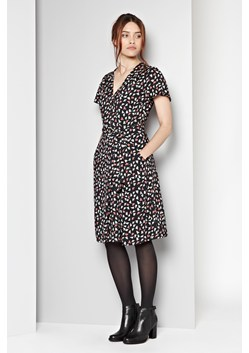 Fly Away Print Wrap Dress
