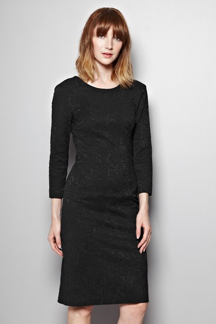 Italia Lace Jacquard Dress
