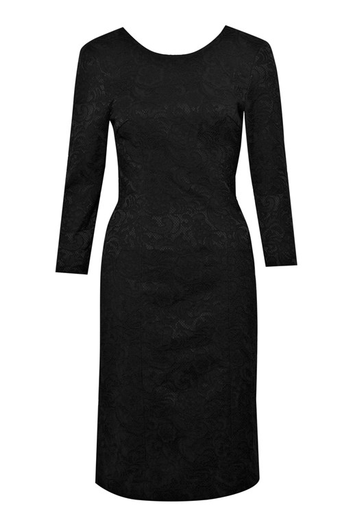Complete the Look Italia Lace Jacquard Dress