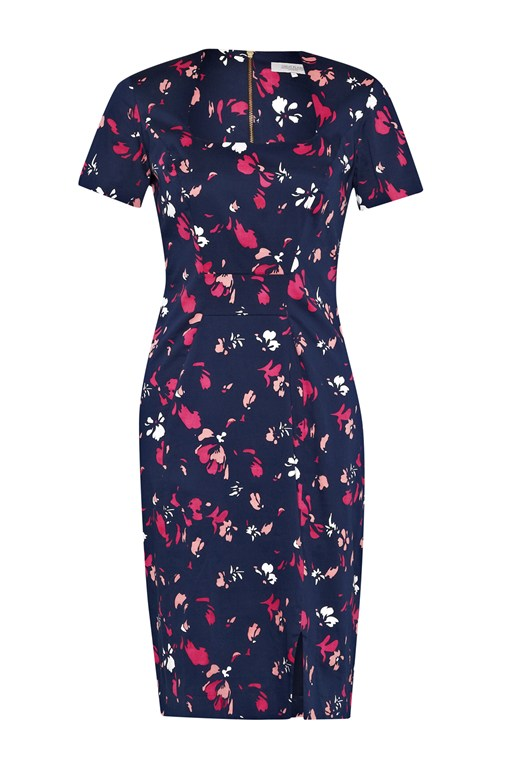 spring blossom fitted dress