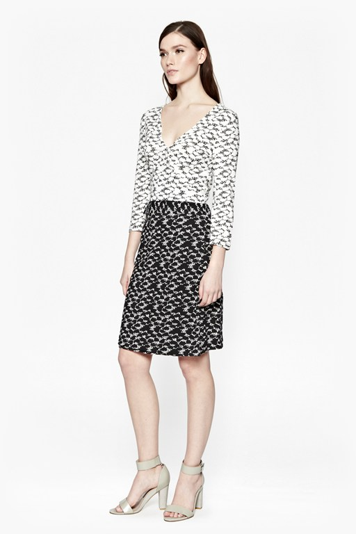dizzy dalmatian wrap dress