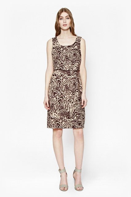 Simba Print Layer Dress