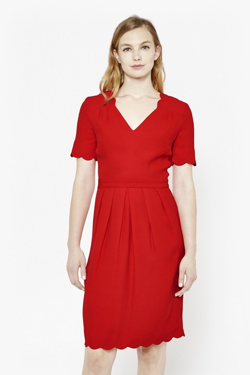 sadie scallop tea dress
