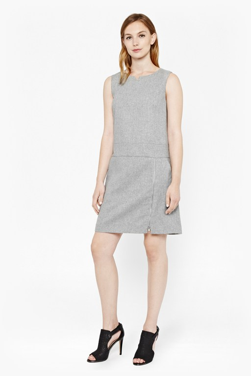 elly wool shift dress